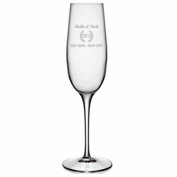 Champagneglas Kobberbryllup