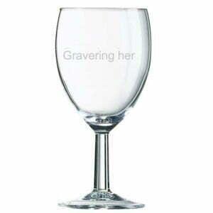 graveret vinglas