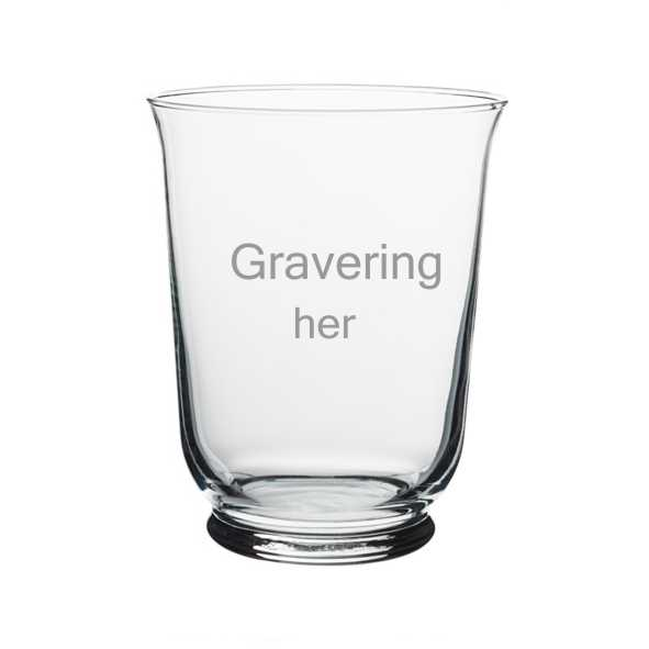 glasvase med gravering