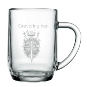 Glas til øl eller mjød gave