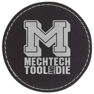 sort læder patch